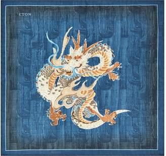 Eton Japanese Dragon Pocket Square