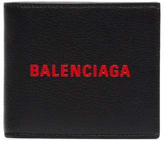 Balenciaga black red logo wallet