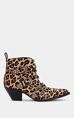 7ef9e096b12c7 R 13 Women's Triple-Buckle Leopard-Print Ankle Boots - Camel