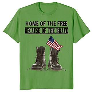 Home of the Free Because of the Brave - Veteran tshirt
