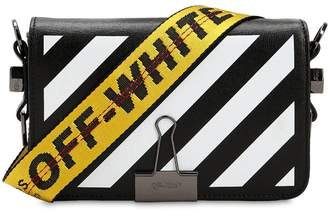 Off-White Mini Diagonal Striped Leather Bag