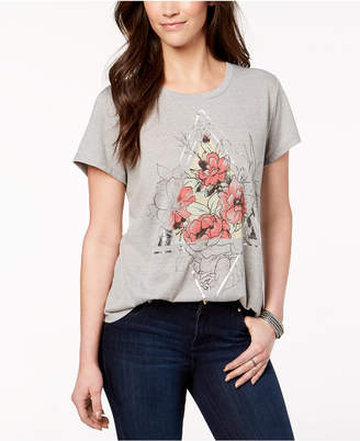 Style&Co. Style & Co Metallic Graphic T-Shirt, Created for Macy's