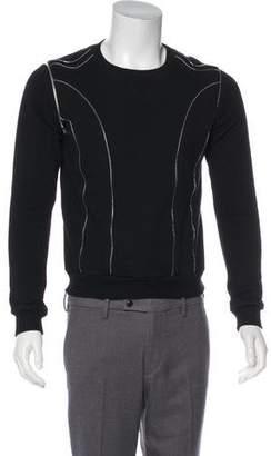 Saint Laurent 2015 Zip-Accented Lightweight Knit Sweater
