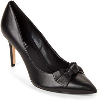 Marc Fisher Black Doreny Leather Bow Pumps