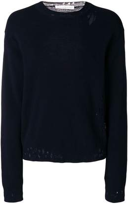 Golden Goose distressed fitted sweater