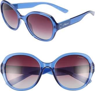 Polaroid Eyewear 55mm Polarized Round Sunglasses