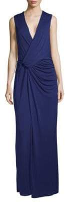 BCBGMAXAZRIA Knot Sleeveless Evening Dress