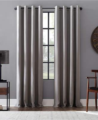 """Lichtenberg Archaeo Linen Blend Blackout Grommet Top Curtain, 52"""" W x 95"""" L"""