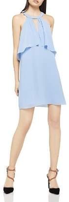 BCBGeneration Flounced Chiffon Shift Dress