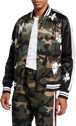 Valentino Men's Camo & Floral-Print Blouson Bomber Jacket