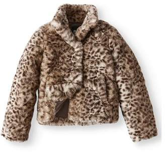 BHIP Leopard Print Faux Fur Coat (Little and Big Girls)