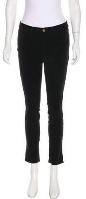 J Brand Mid-Rise Velvet Pants