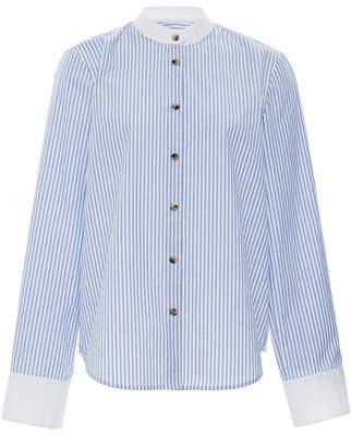 Dakota Khaite Pin-Striped Cotton-Poplin