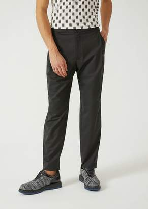 Emporio Armani Tropical Wool Trousers