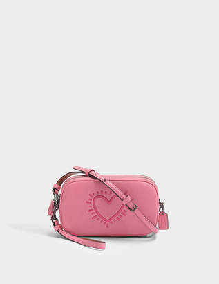 e7422dfc4b86 Coach Crossbody Clutch in Bright Pink Leather