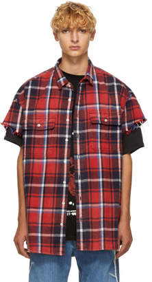 R 13 Red Cut-Off Shirt