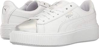 Puma Women's Basket Platform Iridescent Field Hockey Shoe