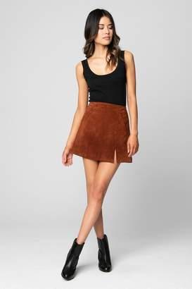 Blank NYC Blanknyc Suede Skirt