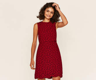 Oasis Long Ditsy Scallop Dress
