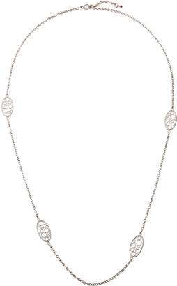 Roberto Coin Bollicine 18k White Gold Small 4-Station Long Necklace