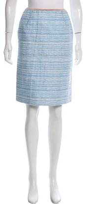 Louis Vuitton Metallic Tweed Skirt
