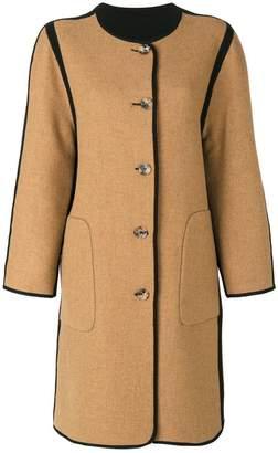 Etro reversible collarless coat