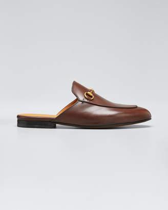 Gucci Princetown Leather Horsebit Mule Slipper Flats