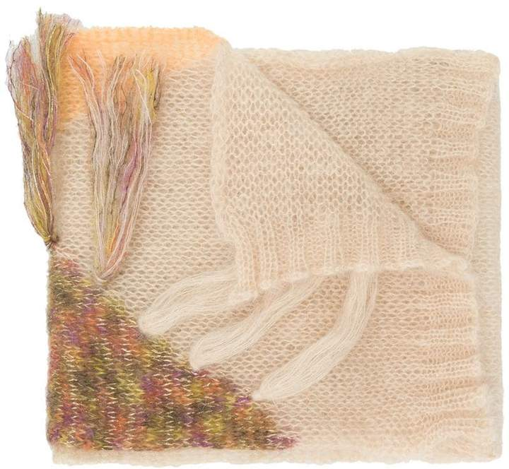 Forte Forte embroidered fringed scarf