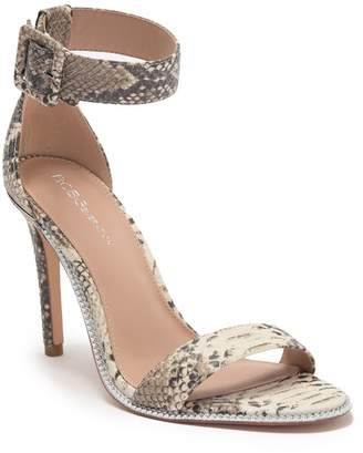 BCBGeneration Janet Snake Embossed Leather Stiletto Heel Sandal