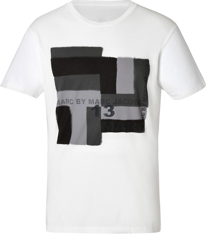 Marc by Marc Jacobs Cotton T-Shirt in White Multi