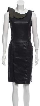 Fendi Sleeveless Leather Dress