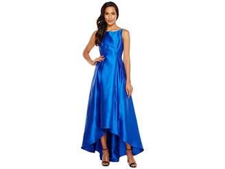 Adrianna Papell High-Low Halter Mikado Gown Women's Dress