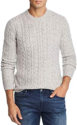 Bloomingdale's The Men's Store at Donegal Tweed Cable-Knit Sweater - 100% Exclusive