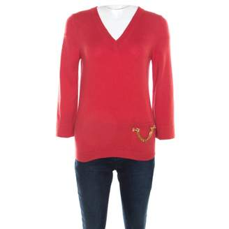 Louis Vuitton Red Cashmere Knitwear