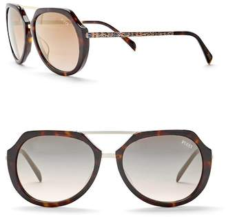 Emilio Pucci 56mm Metal Sunglasses