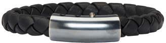 Bottega Veneta Black Single Intrecciato Bracelet