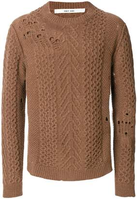 Damir Doma distressed-effect knitted sweater