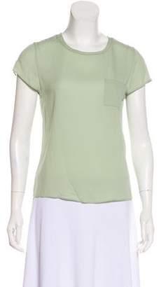 Alice + Olivia Silk Short Sleeve Top