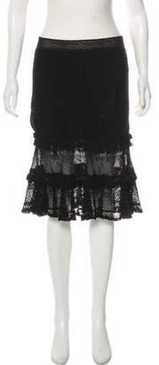Jonathan Simkhai Crocheted Knee-Length Skirt