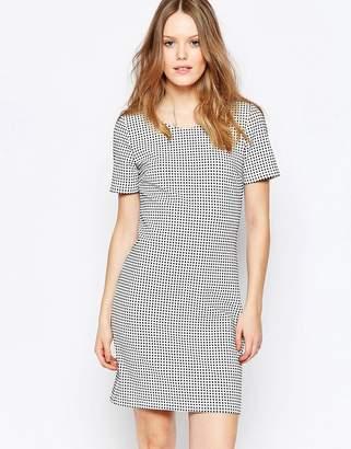 Vila Check Print Shift Dress