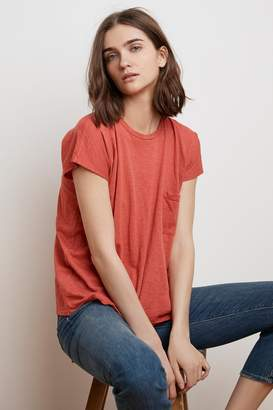 Velvet by Graham & Spencer CARINE COTTON SLUB POCKET TEE