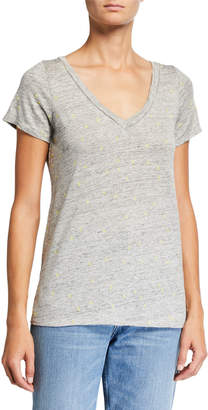 Chaser Tiny Peace Signs V-Neck Short-Sleeve Heathered Tee