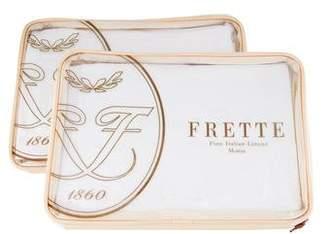 Frette 2-Piece South Africa Glass Beads Ricamo Shams w/ Tags