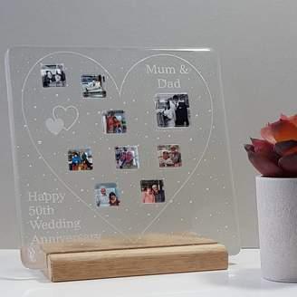 Martasha Personalised Photo Gifts Personalised Family Glass Photograph Display Frame