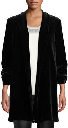 Lafayette 148 New York Cecily Open-Front Velvet Jacket