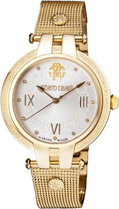 Roberto Cavalli BY FRANCK MULLER Diamond Bracelet Watch, 40mm