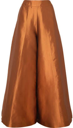 Merchant Archive - Duchesse Silk-satin Wide-leg Pants - Copper