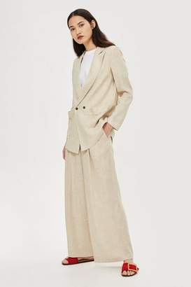 Topshop Linen mix jacket