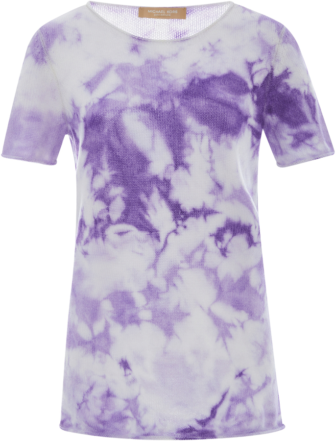 Michael Kors Collection Tie Dye Cashmere Tee