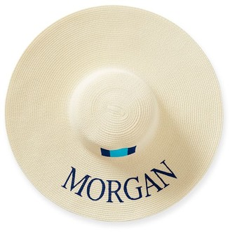 Mark And Graham Hand Painted Floppy Straw Hat
